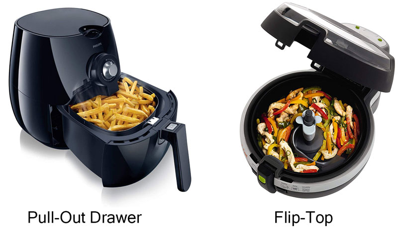 Air-Fryer-Models Flip Top vs Drawer